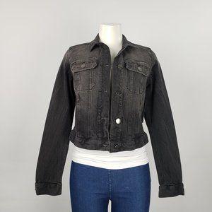 Ana Black Denim Jacket Size S